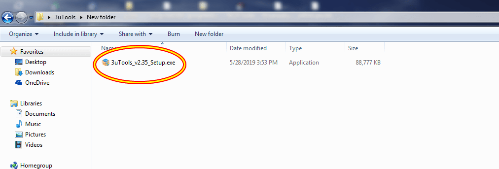 Once you finish the downloading process, click on the 3uTools exe file